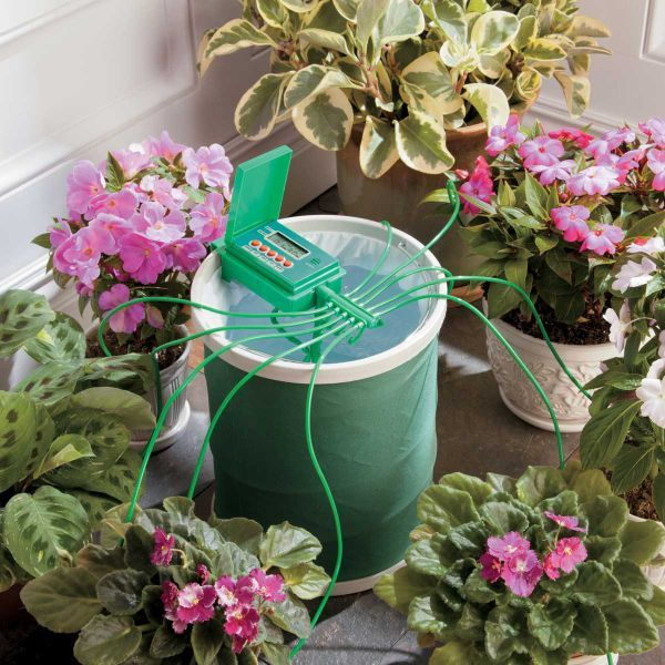I need this!! Automatic Plant Watering System with Coil Basket