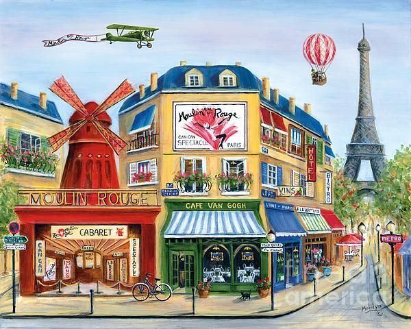 """To Paris With Love II"" by Marilyn Dunlap."