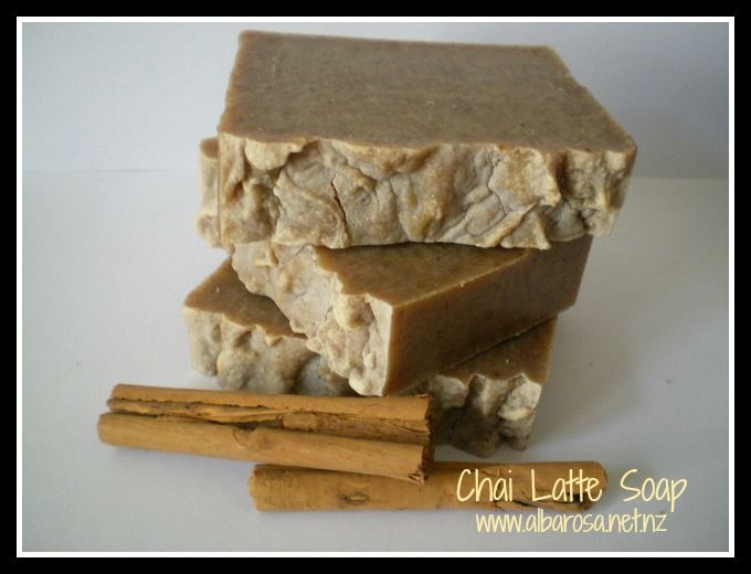 CHAI LATTE SOAP This soap is full of a selection of lovely spices. The result is a warm, rich, spicy fragrance with a hint of vanilla.
