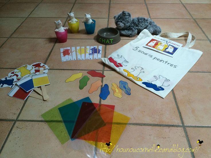 Sac à histoire : 3 souris peintres , Story sack , sac à album, sac à livre ...