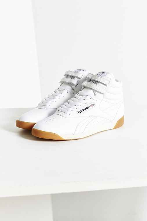 UrbanOutfitters Reebok Freestyle Hi Fit Sneaker Found on my new favorite app Dote Shopping #DoteApp #Shopping