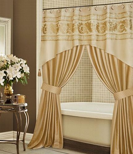 23+ Elegant Bathroom Shower Curtain Ideas, Photos, Remodel And Design