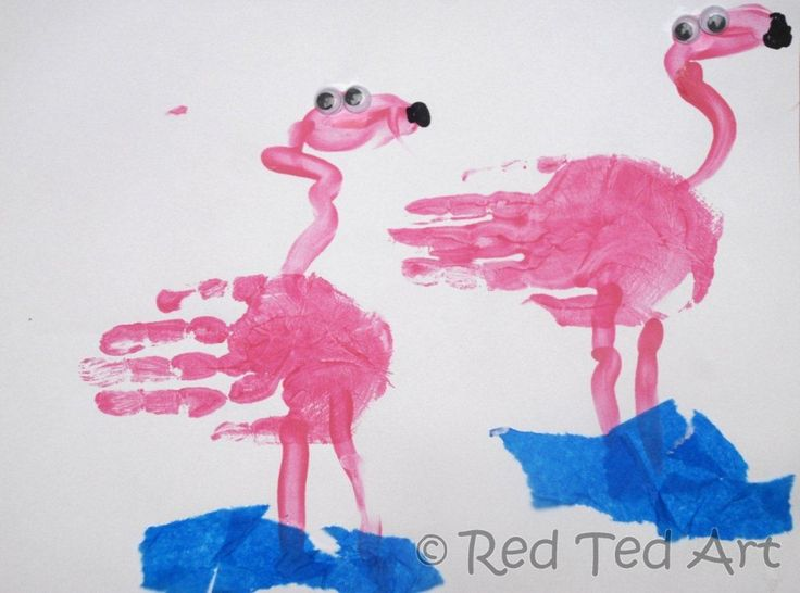 "Preschool Summer Craft Projects | Red Ted tried to add the ""curve"" in the neck, but got a little ..."