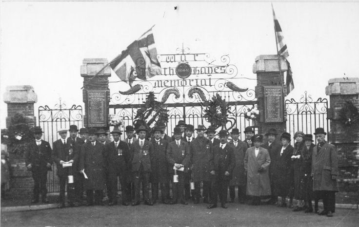 Heath Hayes memorial gates. Opening ceremony 1927