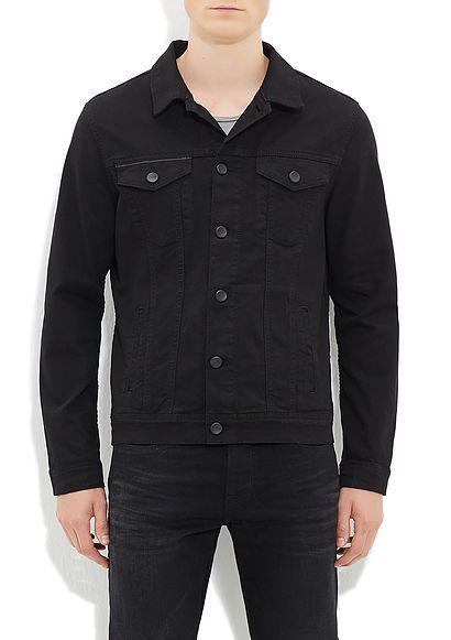 Frank Mavi Amerika Siyah Jean Ceket | Erkek | Mavi