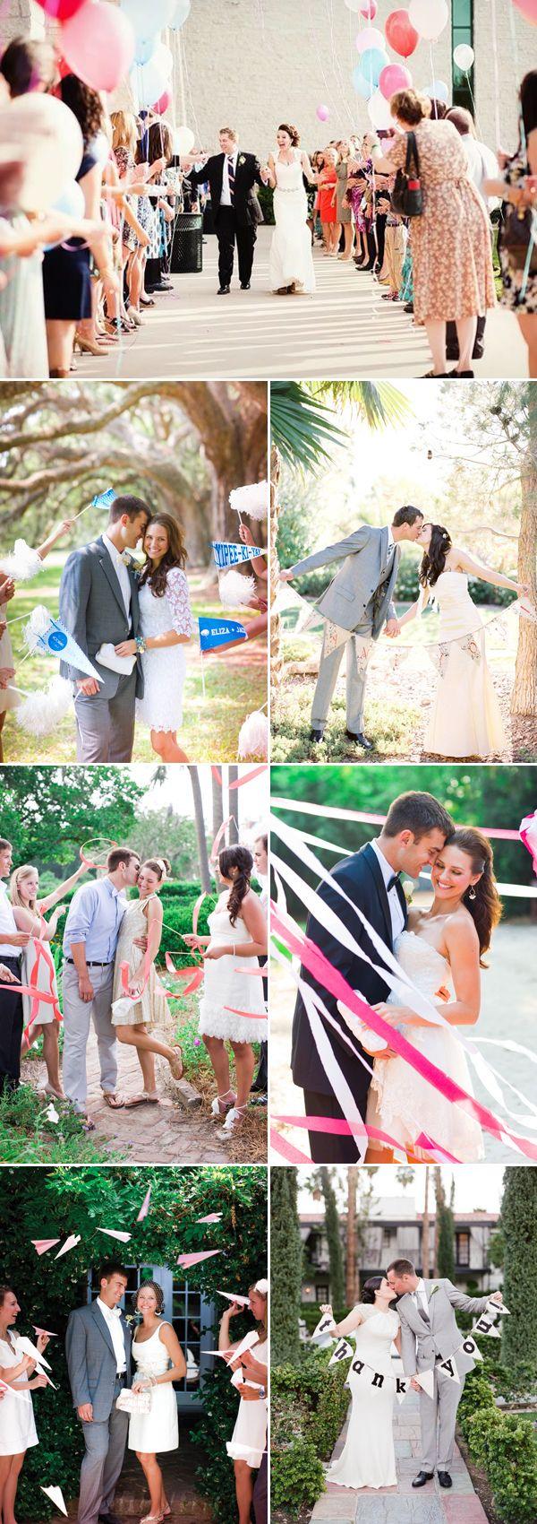 "Wedding Exit Ideas with fun Props   |   ""30 Creative Wedding Exit Ideas"" (http://www.praisewedding.com/archives/2775)"