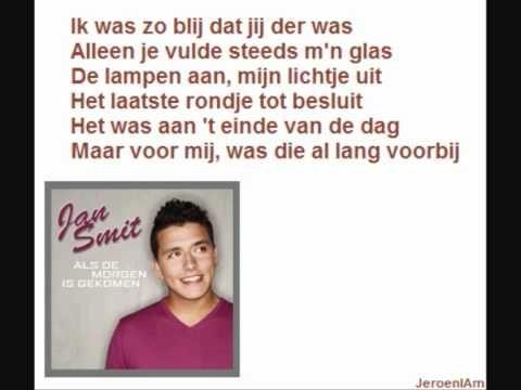 karaoke - Jan Smit - Als de morgen is gekomen + Songtekst