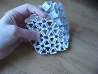 Реверсивная ячеистая структура (Флексагонная сетка)
