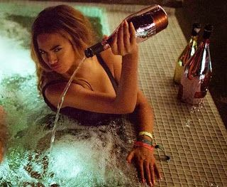 Beyoncé Pours Out Pricey Bottle of Champagne Into ...