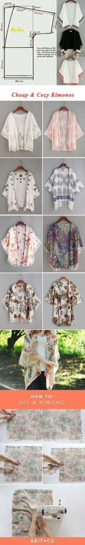 Patrón fácil de kimono. Pinterest