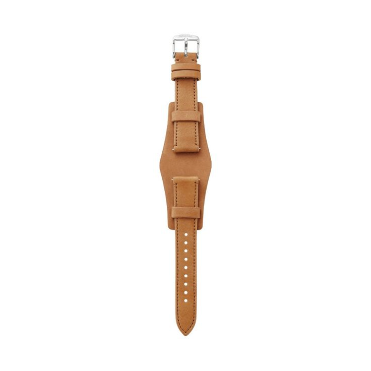 Fossil Leather 18mm Watch Strap- Tan