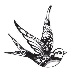 Birds Tattoos For You: Sparrow Bird Tattoo Designs