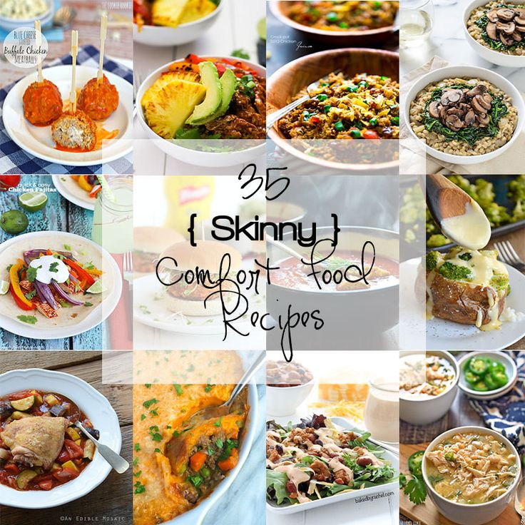 With the New Year and resolutions to eat better, let your tastebuds start to water with these 35 Skinny Comfort Food Recipes!
