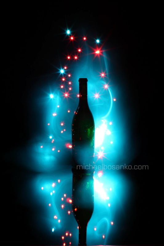 Michael Bosanko - light painting makes this bottle look like it's full of potion