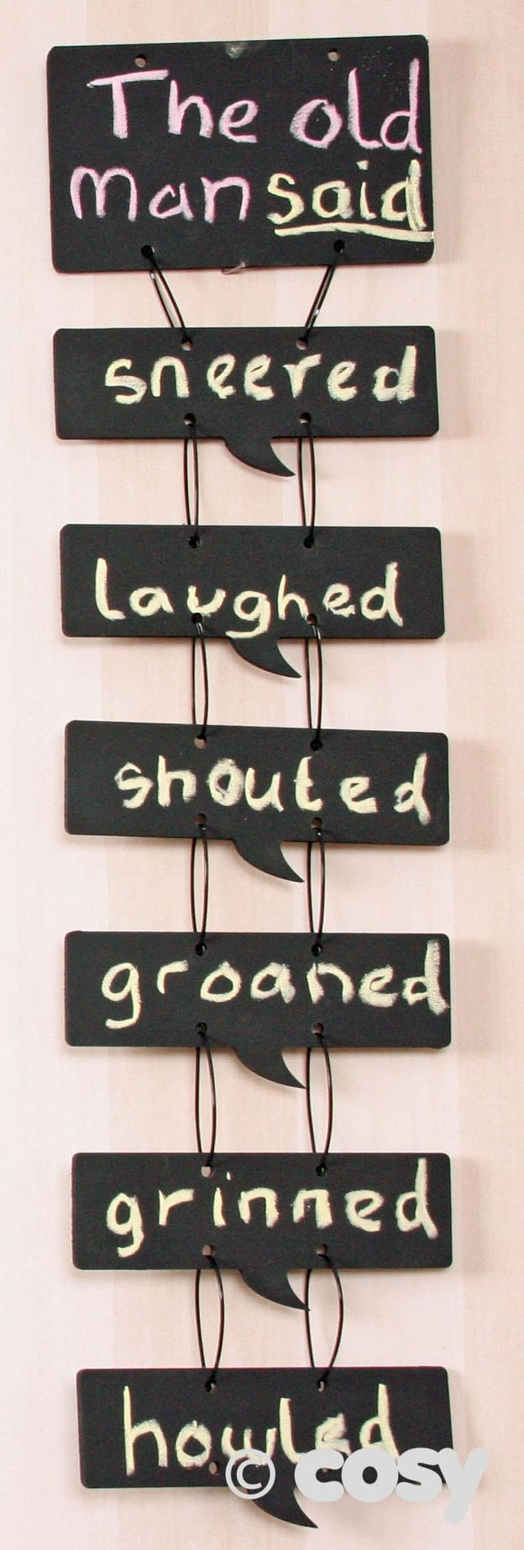SPEECH BUBBLE WORD CHAIN - Literacy - Early Years - Cosy Direct