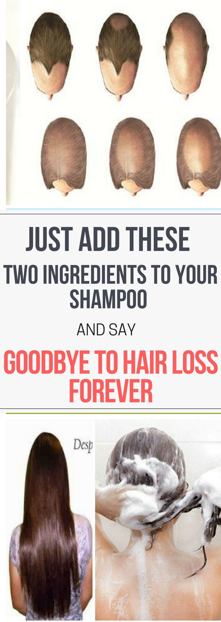 Just Add These Two Ingredients To Your Shampoo And Say Goodbye To Hair Loss!!