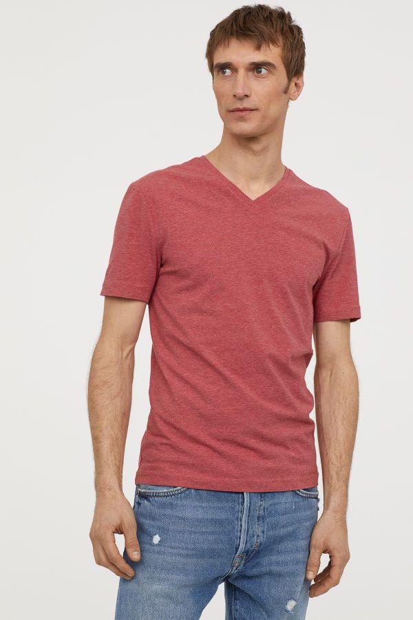 07c8ba4f9ec V-neck T-shirt Slim fit