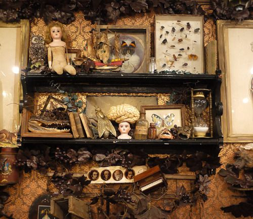 amy-addams:    Grimoire Almadel interior decor. It reminds me of my own room! Minus the brain - I hate anything to do with brains (there was one on the Oddities episode I was watchingearlier and it made me feel quite ill)