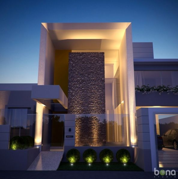 contemporary house with modern architecture