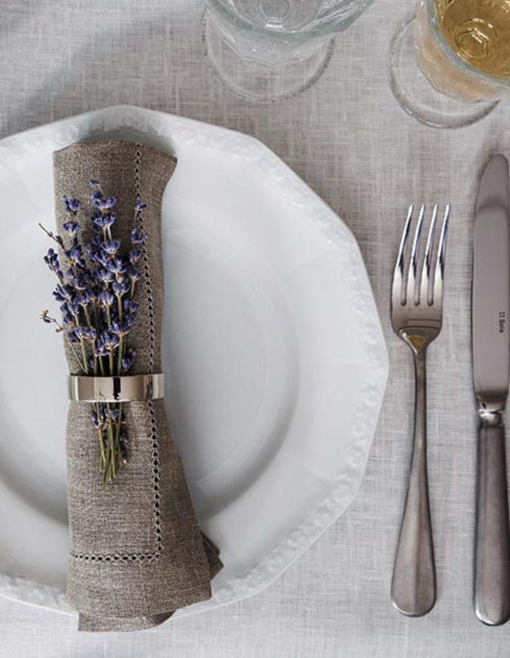 »Provence Charme« Tafel-Service Maria, Stoffserviette Alanta & Besteck-Set Baguette Vintage