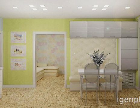 Проект однокомнатной квартиры. Дизайнер: Юлия Павлова. #дизайнинтерьера #igenplan #дизайнквартиры  #квартиры