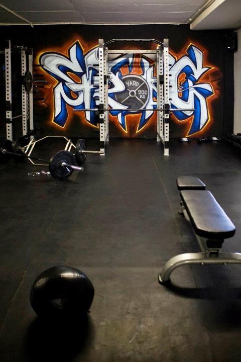Best gym art images on pinterest garage and
