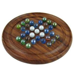 Solitaire - Plateau de jeu en bois et billes en verre - Cadeau unique: Amazon.fr: Jeux et Jouets