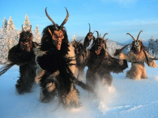 """The Berchten monsters are similar in appearance to Krampus. From """"The Lost Female Figures of Christmas - Part II,"""" click the image to read."""