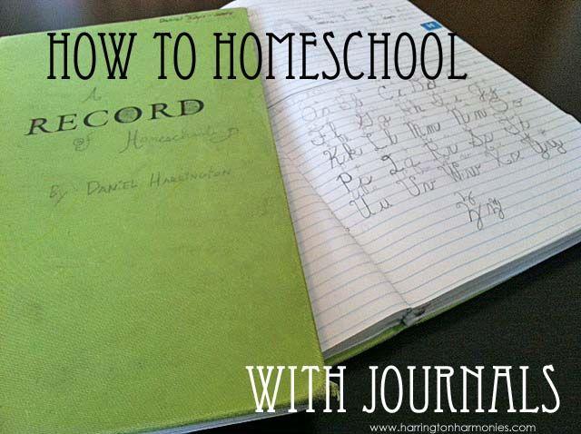 How To Homeschool With Journals by Stephanie Harrington on HomeschoolinMama.com