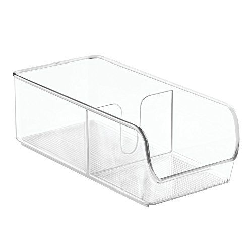 InterDesign Linus Spice Packet Organizer Bin for Kitchen Pantry Cabinet Countertops - Clear