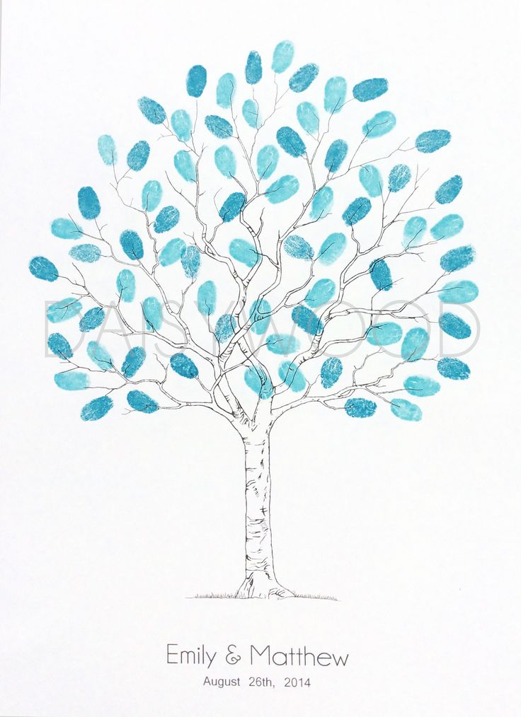 Wedding fingerprint tree . Contemporary tree - Fingerprint Guest book. Very popular for weddings and christenings, one of our best selling products.Available in A4, A3 & A2 sizes. Ink pads & pens available at the checkout.