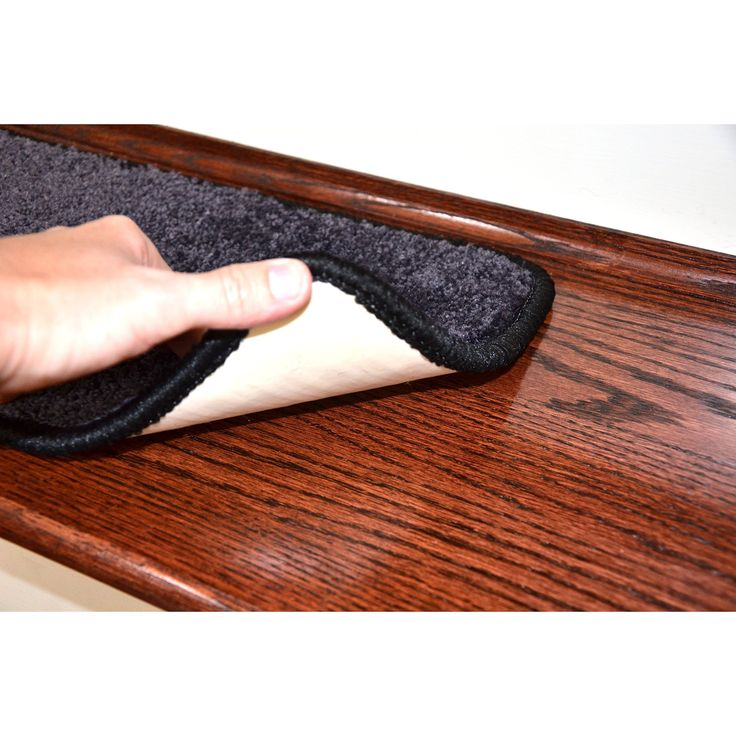 """Dean Non-Slip Tape Free Pet Friendly Stair Gripper DIY Carpet Stair Treads/Rugs 27"""" x 9"""" (15) - Color: Onyx Black, American Made Top Quality"""