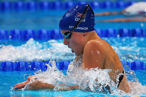 Siobhan-Marie O'Connor of Great Britain competes in the Swimming Women's 200m Individual Medley Semifinal 1 on day nine of the 15th FINA World Championships at Palau Sant Jordi on July 28, 2013 in Barcelona, Spain.