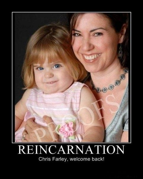Reincarnation. This seriously makes me laugh so hard.