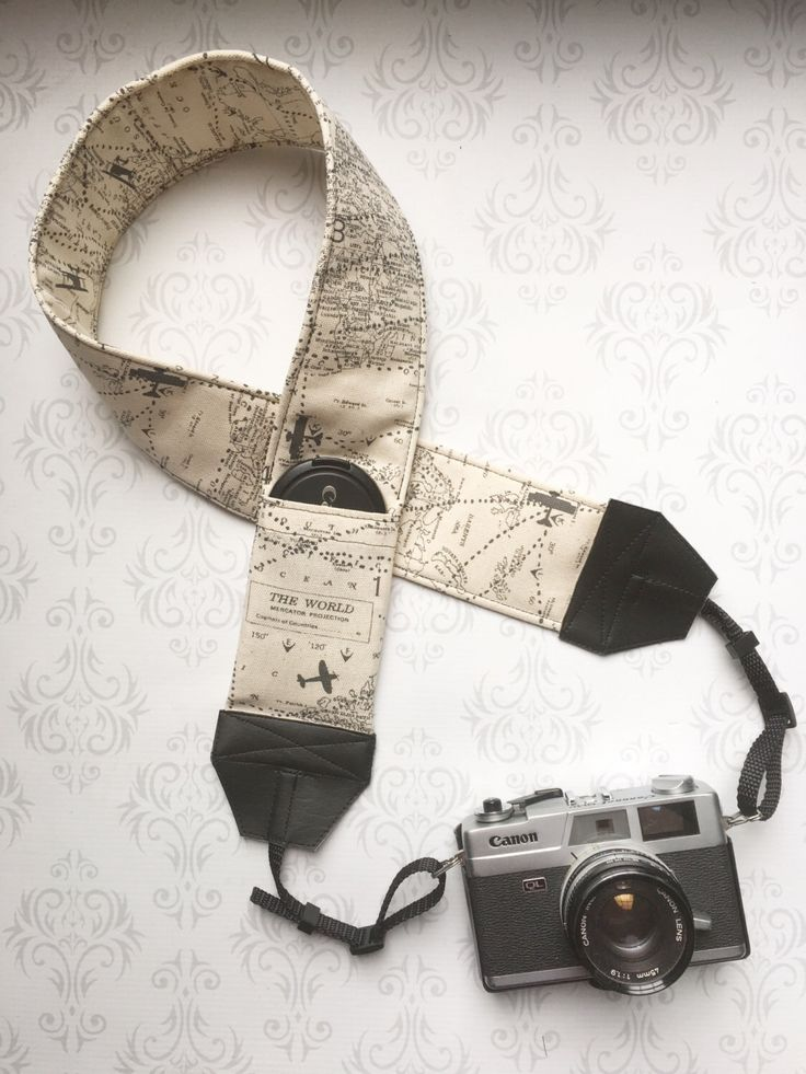 DSLR Camera Strap, Extra Long, Padded with 2 Lens Cap Pockets, Nikon, Canon, DSLR Photography, Photographer Gift - Maps by PaisleyMaizie on Etsy https://www.etsy.com/listing/271803548/dslr-camera-strap-extra-long-padded-with