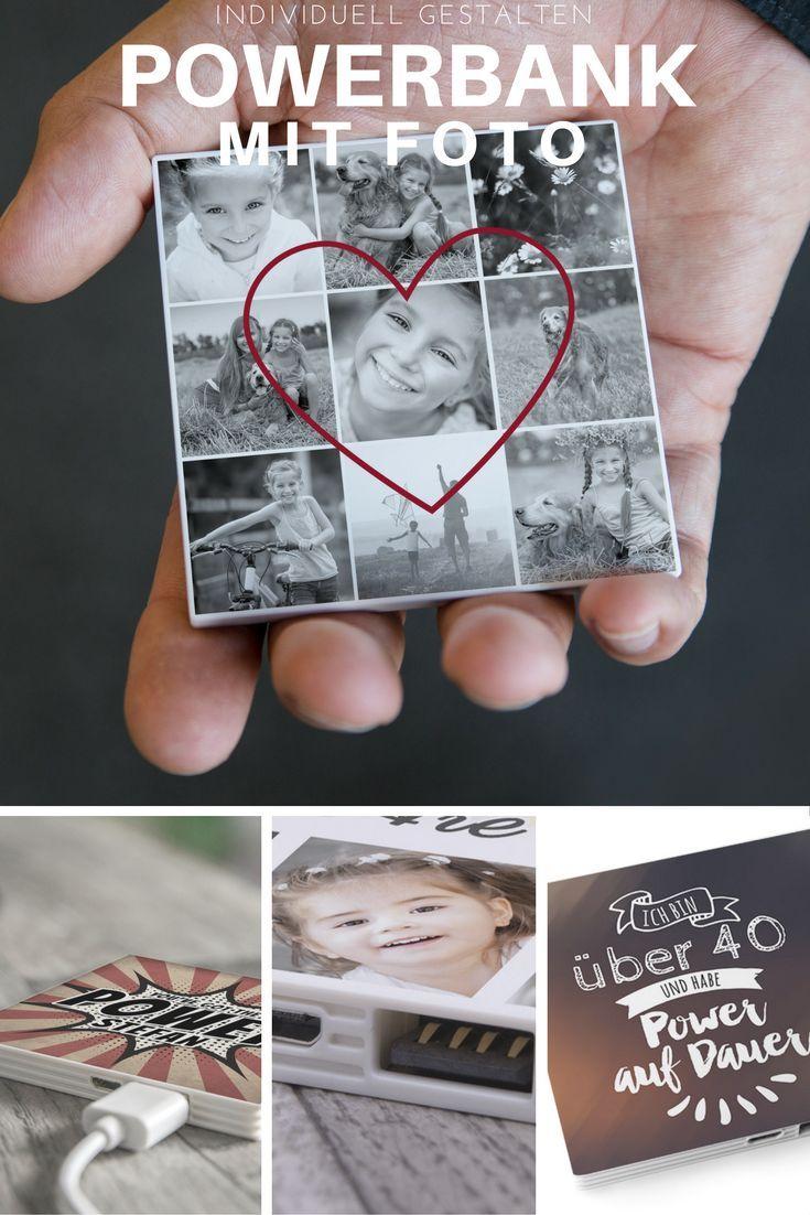 Akku für unterwegs. Selbst gestalten mit Foto, Text, Collagen oder coolen Motiven.