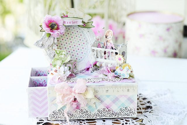 Scrapiniec inspirations on blogspot: Box for mother's treasures