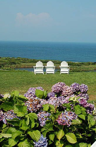 Block Island, Rhode Island. If this isn't calling your name, I don't know what it would take:) I am in one of those chairs kids. Maybe forever.
