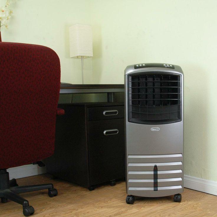 The NewAir AF-351 Portable Evaporative Cooler is a high-efficiency air cooler covering up to 300 sq. ft. and costs significantly less to operate than traditional refrigerant-powered air conditioning systems.
