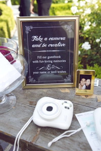 Photo Guestbook ideas | Style Me Pretty | #GuestBookIdeas #Weddings