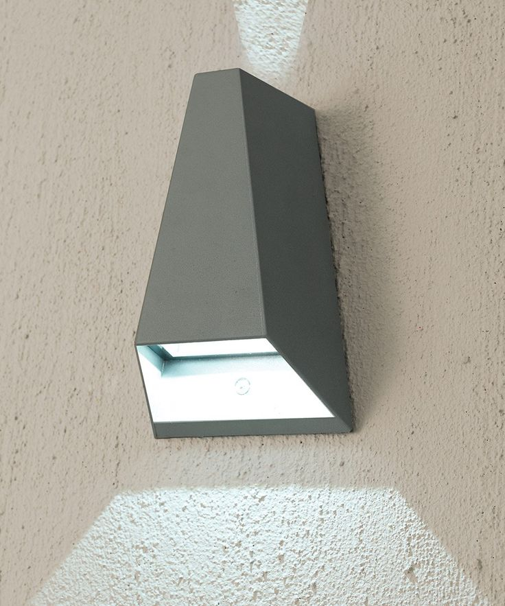 LEDlux Vice 6W Triangle Up/Down Exterior Wall Bracket in Charcoal
