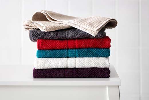 Badehåndklær - ensfarget, i fine farger. Som slike fra Ikea feks.