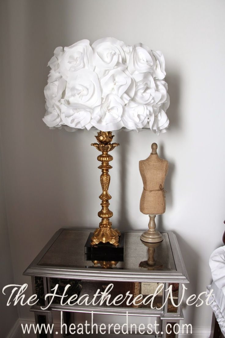 Driftwood lamp 11 diy s guide patterns - Shedding Light On An Easy Ish Diy The Fabric Flower Lampshade The Heathered