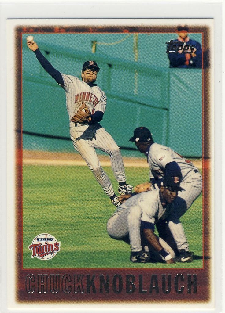 chuck knoblauch trading cards | Common Genius: 1997 Topps #65 Chuck Knoblauch
