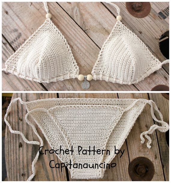 PDF, Crochet PATTERN Crochet Bikini Top and Bottom, Sizes XS-L