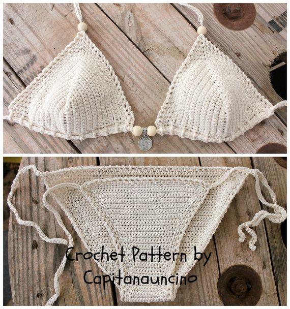 PDF Crochet PATTERN Crochet Bikini Top and by CapitanaUncino
