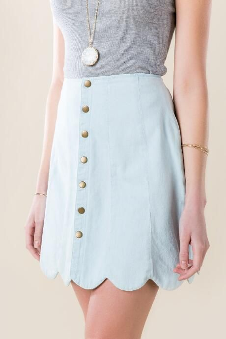 Primrose Snap Scallop Skirt