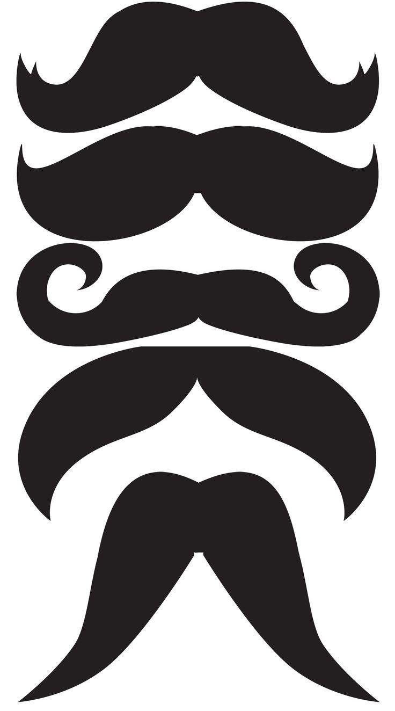 DIY printable mustache template <3