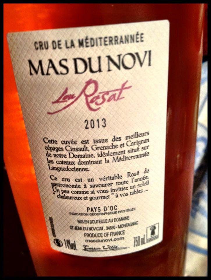 El Alma del Vino.: Vinos y Pinchos : Tosta de variación de escalivada con gratín de Queso de Villalón y Mas du Novi Lou Rosat 2013.