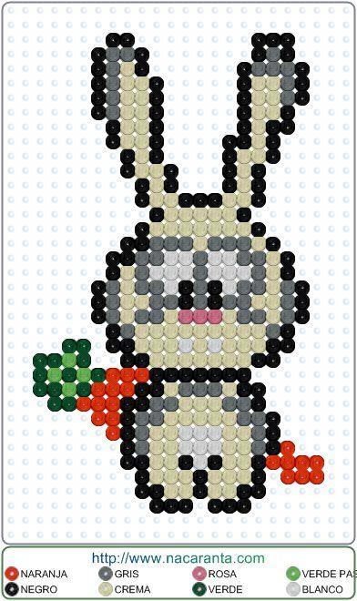 conejo-zanahoria en punto de cruz.